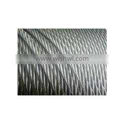 6*7 6*9 stainless,pvc coated/galvanized,ungalvanized/alloy,unalloy steel wire rope strand with hemp,cotton core or metal core