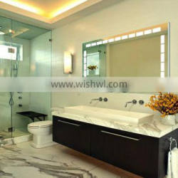 Furniture fittings mirror with LED lighting for bathroom