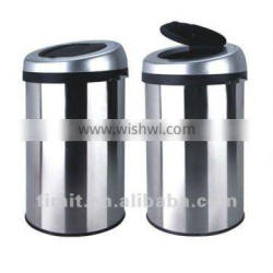 Superior Quality Stainless Steel Body SS and PP Cover Round Recycling Bin