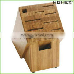 Natural Bamboo Knife Storage Organizer and Holder Homex-BSCI