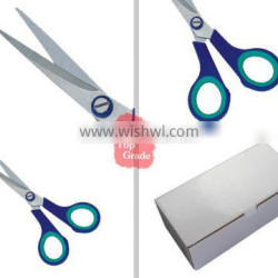 15.3cm High class soft plastic handle office and stationery scissors