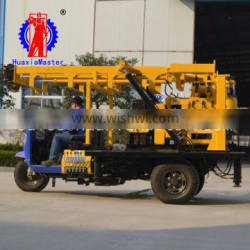 XYC-200A tricycle-mounted hydraulic core drilling rig/Tricycle diamond core drills sale