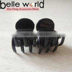 Small Size Wholesale Black Hair Claw Hairpin Accessories Factory Kids Plastic