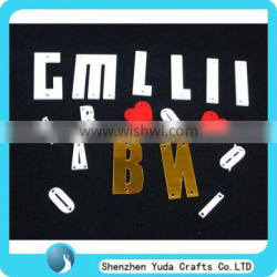 customized acrylic laser cutting letters for educational toy wall home kindergarten clothes decoration