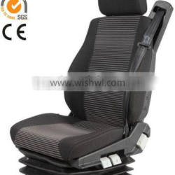 ISRI top quality pneumatic suspension truck driver seats integrated with three point safety belt