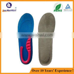 full length shockproof insole gel sport shoe insole durable shoe insole material silicone