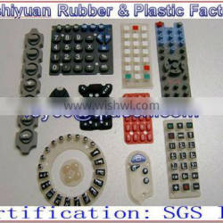 custom transparent silicone16 buttons keypads for toy and robot Conductive carbon particlesn keypads