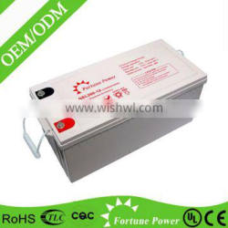 Excellent quality 12v 200ah deep cycle agm battery for solar energy system