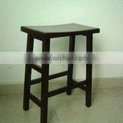 SD-03 Wooden saddle stool with wood seat