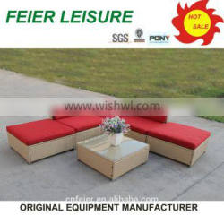 new design hot sell synthetic rattan garden furniture with high quality