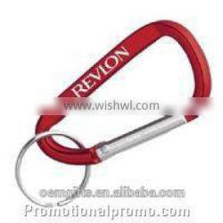 High Quality Aluminum Carabiner with keychain, carabineer with keyring