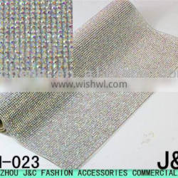 ab crystal color rhinestone hot fix mesh for shoe decorations