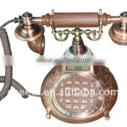 Carving pattern base old times telephone