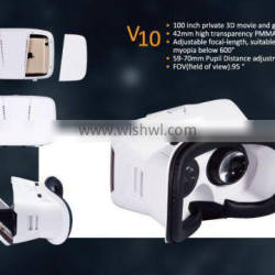 VR box vrarle with three-dimensional Opitical coated lens