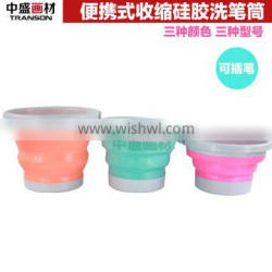 Transon foldable Brush Washer with handle, Plastic brush washer. water pot, blue, red, orange, green color .
