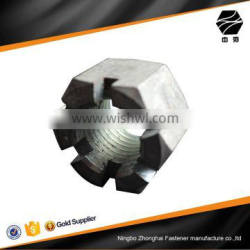 DIN935 slotted hex nut