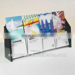 table top Acrylic Brochure Holder for office/lobby notice
