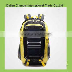 Eco-friend qualified oxford hiking solar backpack with power supplier