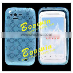 blue Soft TPU Gel Crystal Jelly Case Cover For HTC bliss s510b