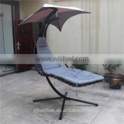outdoor hanging swing chair with stand/single hanging chair