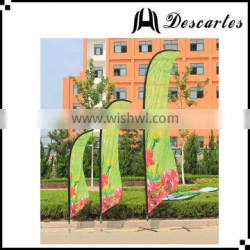 Custom printing knife shaped advertising flags/flags and banners for promotional