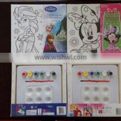 Stretched canvas set with painting and brush for kids DIY