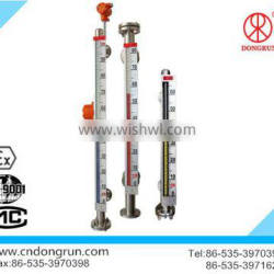 CE certificate corrosion resistant chemical plant PTFE magnetic level indicator