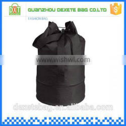 Wholesale high quality polyester kind of color muslin drawstring bag