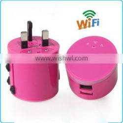 Universal multi-function travel charging converter with wifi and USB port
