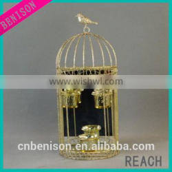 fashion gold home decorative metal birdcage candle holder BS568-15