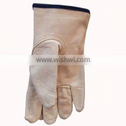Driver's Leather Gloves with Black Tip