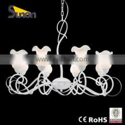 European style iron glass shade decorative chandelier/lighting chandelier/chandelier imported from China