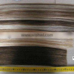 Human remy hair weft piano hair color in different length