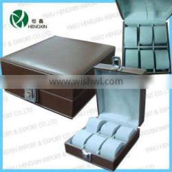 Cheap watch boxes with lock Leather watch case Watch display case