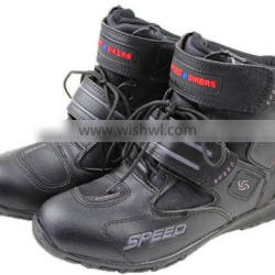 Super fiber leather touring boots Motorcycle Motorbike boots racing riding boots