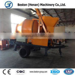 China famous brand diesel concrete mixer with pump for sale in India