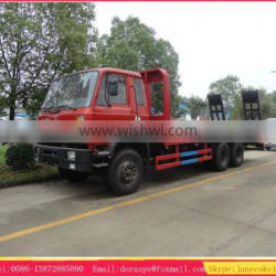 Dongfeng 6*4 Flatbed tow truck for forklift transportation