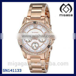 day date and 60 minute counter sub dials women's multifunctional watch