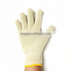 Knitted White Industrial Cotton Gloves