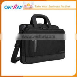 Designed effortless business laptop briefcase with trolley strap