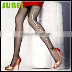 Hot Sell Japanese female bowknot hollow out silk stockings,fishnet ultra-thin sexy black Snagging Resistance tights