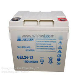 Deep Cycle GEL Battery 12V24AH for Solar/Security Systems, Rechargeable UPS Battery