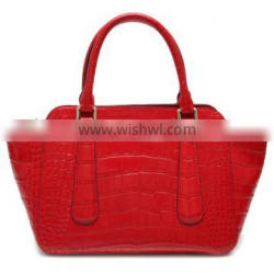 CSS1255-001 New arrived designer leather handbags bright red croco pattern brand women bags