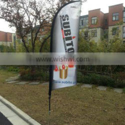Factory custom printing feather flag banner