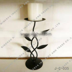 Factory Customize Metal Leaf Candle stand