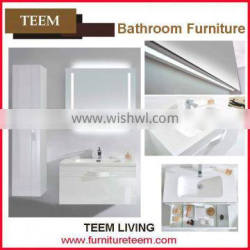 2016 new design modern high end quality soild wood concise manufacturer tall bathroom cabinet