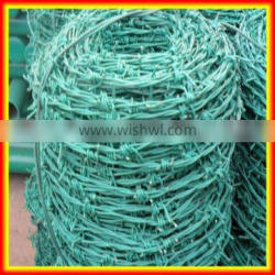 discount 10% pvc coated anti climp double strand barbed wire
