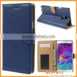 Oil Buffed Leather Magnetic Wallet Case for Samsung Galaxy Note 4 N910