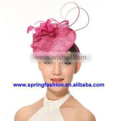 New arrival Kentucky Derby Church Wedding Easter Day sinamay fascinator on headband available in any colors