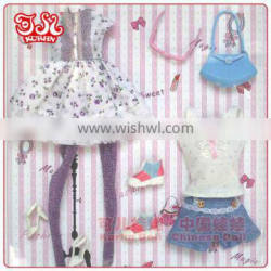 11 inches fashion girl doll clothes 3 outfits in one